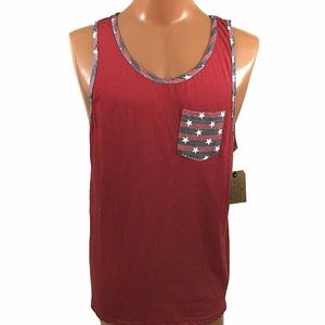 Company 81 Star Accent Tank Top Patriotic Large